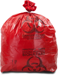 Red 3.0 Mil Healthcare Trash Bags