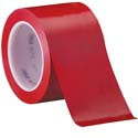 Red 3M 471 3 in x 36 yd Vinyl Tape-3p
