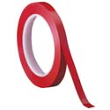 Red 3M 471 1/4 in x 36 yd Vinyl Tape-3p