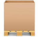48 x 40 x 36 275# Double Wall Gaylord Container