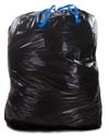 44 Gallon Black Drawstring Trash Bags