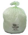 30 Gallon Green Eco Friendly Trash Bags