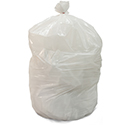 40-45 Gallon White Heavy Duty Trash Bags