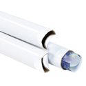 2 x 24 White Crimped End Tubes