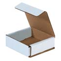 3 in x 3 in x 1 in White Corrugated Mailers
