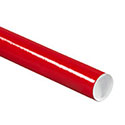 3 x 12 Red Mailing Tubes