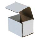 4 in x 3 in x 3 in White Corrugated Mailers