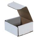 4 in x 4 in x 2 in White Corrugated Mailers