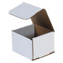 4 in x 4 in x 3 in White Corrugated Mailers