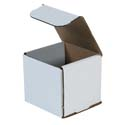 4 in x 4 in x 4 in White Corrugated Mailers