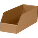 4 in x 12 in x 4 1/2 in Kraft Bin Boxes