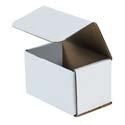 5.5 in x 3.5 in x 3.5 in White Corrugated Mailers