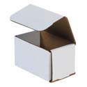5 in x 3 in x 3 in White Corrugated Mailers