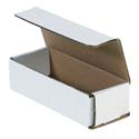 6.5 in x 2.5 in x 1.75 in White Corrugated Mailers