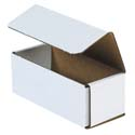 6.5 in x 2.75 in x 2.5 in White Corrugated Mailers