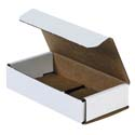 6.5 in x 3.25 in x 1.25 in White Corrugated Mailers