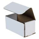 6 in x 3 in x 3 in White Corrugated Mailers