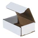 6 in x 4 in x 2 in White Corrugated Mailers