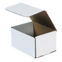 6.5 in x 4.875 in x 3.75 in White Corrugated Mailers