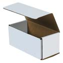 7.5 in x 3.5 in x 3.25 in White Corrugated Mailers