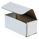7 in x 3 in x 3 in White Corrugated Mailers