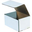 7 in x 5 in x 4 in White Corrugated Mailers