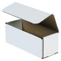 8 in x 3 in x 3 in White Corrugated Mailers