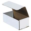 8 in x 4 in x 3 in White Corrugated Mailers