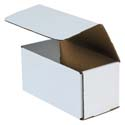 8 in x 4 in x 4 in White Corrugated Mailers
