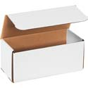 9 in x 4 in x 4 in White Corrugated Mailers