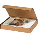 9 in x 7.5 in x 3 in Kraft Literature Mailers