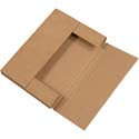 12 1/8 in x 9 1/8 in x 1/2 in Kraft Corrugated Mailer