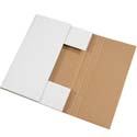 15 in x 11 1/8 in x 2 in White Corrugated Bookfolds
