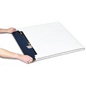 36 in x 24 in x 1 in Jumbo White Fold-Over Mailers