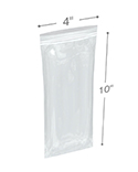 4 in x 10 in 2 Mil Clearzip® Lock Top Bags