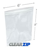 6 in x 8 in 2 Mil Clearzip® Lock Top Bags
