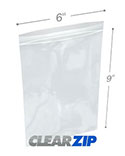 6 in x 9 in 2 Mil Clearzip® Lock Top Bags