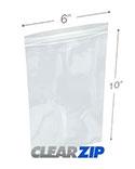 6 in x 10 in 2 Mil Clearzip® Lock Top Bags