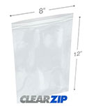 8 in x 12 in 2 Mil Clearzip® Lock Top Bags