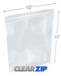 10 in x 13 in 2 Mil Clearzip® Lock Top Bags