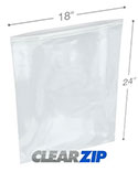 18 in x 24 in 2 Mil Clearzip® Lock Top Bags