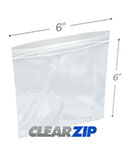 6 in x 6 in 4 Mil Clearzip® Lock Top Bags