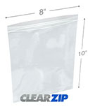 8 in x 10 in 4 Mil Clearzip® Lock Top Bags