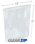 13 in x 18 in 4 Mil Clearzip® Lock Top Bags