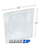 18 in x 20 in 4 Mil Clearzip® Lock Top Bags