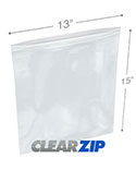 13 in x 15 in 6 Mil Clearzip® Lock Top Bags