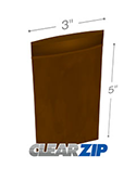 3 in x 5 in Amber 3 Mil Clearzip® Lock Top Reclosable Bags