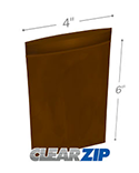 4 in x 6 in Amber 3 Mil Clearzip® Lock Top Reclosable Bags