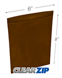6 in x 8 in Amber 3 Mil Clearzip® Lock Top Reclosable Bags