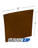 8 in x 8 in Amber 3 Mil Clearzip® Lock Top Reclosable Bags